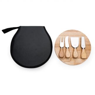 Kit Queijo 5 peças com Estojo de Nylon